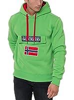 Geographical Norway Sudadera con Capucha Gadrien Verde 2XL