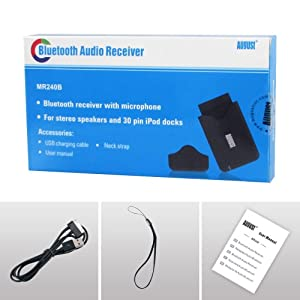 August MR240B tooth Audio Receiver for Sound Systems promo