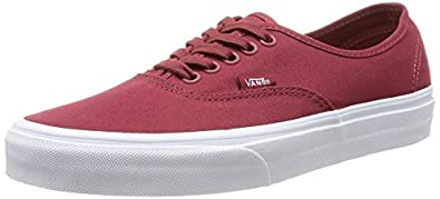 Vans Authentic, Unisex-Adults' Low-Top Trainers, Red, 2.5 UK