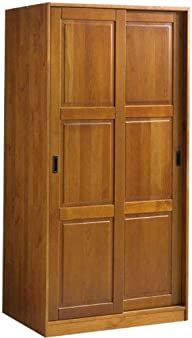 100% Solid Wood 2-Sliding Door Wardro…