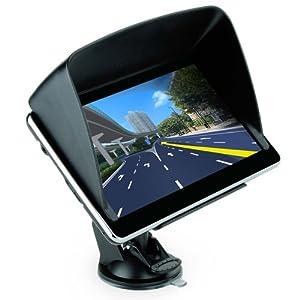 Moonar 7 inch GPS Car Navigation MTK 4GB Capacity UK EU AU NZ Maps POI with Sunshade and Small Bag