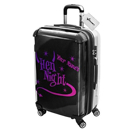 Addio al Nubilato 007, Partito, Luggage Valigia Bagaglio Ultraleggero Trasportabile Rigido con 4 Route e Disegno Intercambiabile. Dimensione: Grande, L
