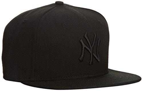 New Era 59 Fifty NY Yankees - Cappello con visiera, colore nero (black/black), taglia 7