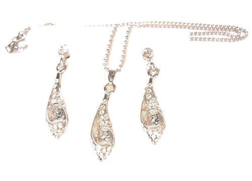 Collana in argento di Peter Pan / Peter Pan cristallo Swarovski collana in argento / Peter Pan argento collana di cristallo