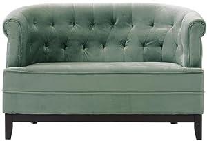 O Emma Tufted Studio Sofa 32 Quot Hx50 Quot W Velvet Seagreen