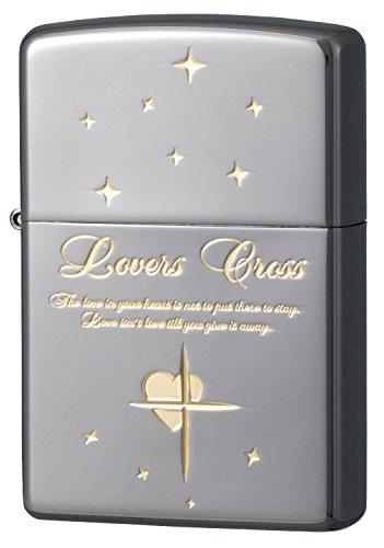 ZIPPO (Zippo) oil lighter NO200 lovers / cross Star Black x Gold 63080298