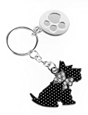 M&S Collection Scooty Kitten Diamanté Keyring