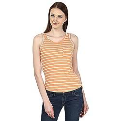 Ruse Women's Vest Tops (39_OST4587954WT, Orange, S)