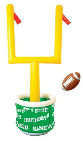 Beistle 50083 1-Pack Inflatable Goal Post Cooler with Football for Parties, 28-Inch Width by 6-Feet 2-Inch Height by Beistle