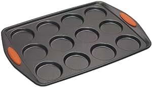 Rachael Ray Oven Lovin' Non-Stick 12-Cup Whoopie Pie Pan, Orange