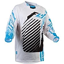 Fly Racing Mens Kinetic RS Motocross Jersey Blue/White Large L