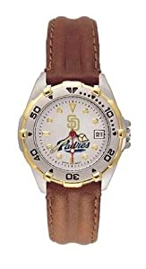 San Diego Padres MLB All Star Watch with Leather Band - Women's