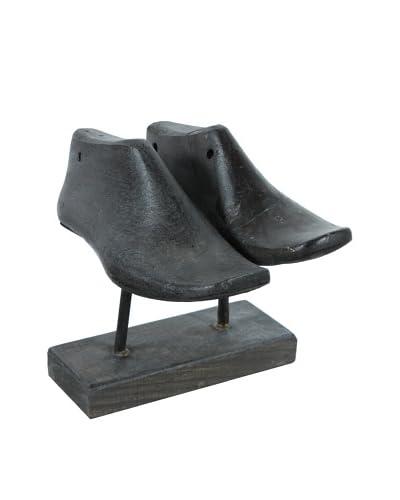 Double Shoe Mold, Ebony Horizontal, Black