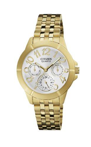 Citizen Women's ED8102-56A Analog Display Japanese Quartz Gold Watch