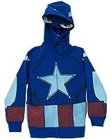 Captain America Marvel Comics Costume Mask Youth Hoodie Hooded Sweatshirt