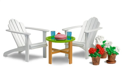 lundby .   smaland:  garden	furniture set with