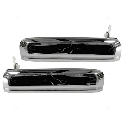 Driver and Passenger Outside Outer Chrome Door Handles Replacement for Nissan Pickup Truck 8060701A00 8060601A00 (D21 Nissan Pickup compare prices)