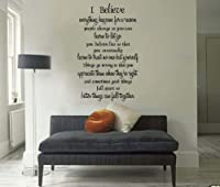 """Marilyn Monroe Quote """"I Believe Everything Happens for a Reason"""" Girls bedroom Wall Art Decor Vinyl Decal Inspiration Saying from 9birds"""