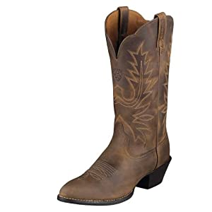 Ariat Womens Heritage Western R Toe Boot Distressed Brown Size 7