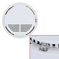 TOOGOO(R) Standalone Photoelectric Smoke Alarm Fire Smoke Detector Sensor Home Security System for Home Kitchen 9V by TOOGOO(R)
