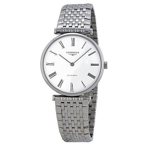 Longines Grande Classique L47084116 33mm Automatic Silver Steel Bracelet & Case Synthetic Sapphire Men's Watch