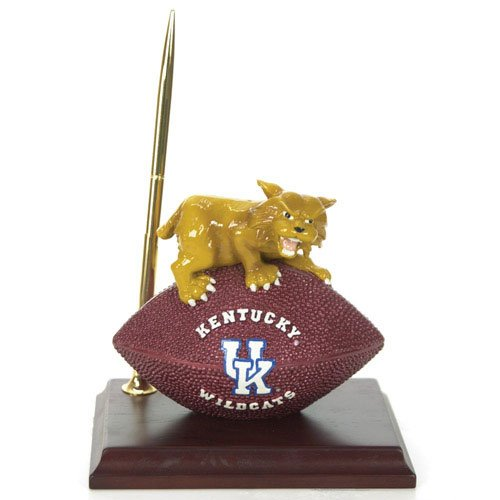 Kentucky Wildcats Mascot Football Clock/Pen