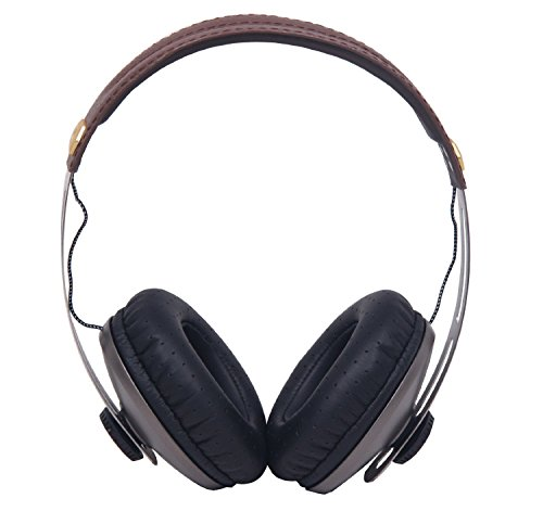 Signstek Dj Over-Ear Headphones For Iphone, Ipad, Android Cellphone, Mp3/Mp4/Mp5, Laptop, Cd Recorder, Pc *Brown*