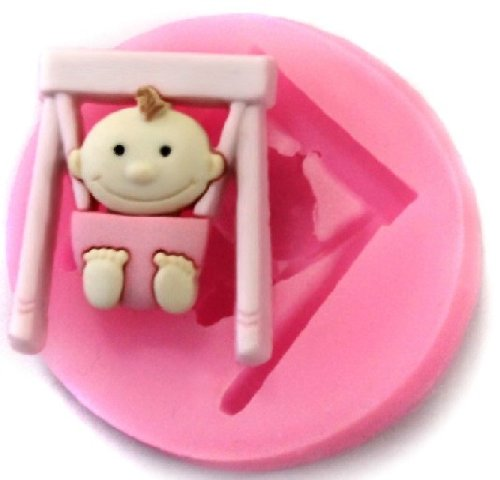 Allforhome Mini Baby Swing Silicone Fondant Mold Candy Mold Cake Decorating Molds Craft Moulds