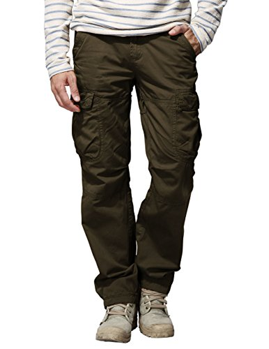 Match Men's Casual Cargo Trousers Chinos #6521(6521 Brown,36)