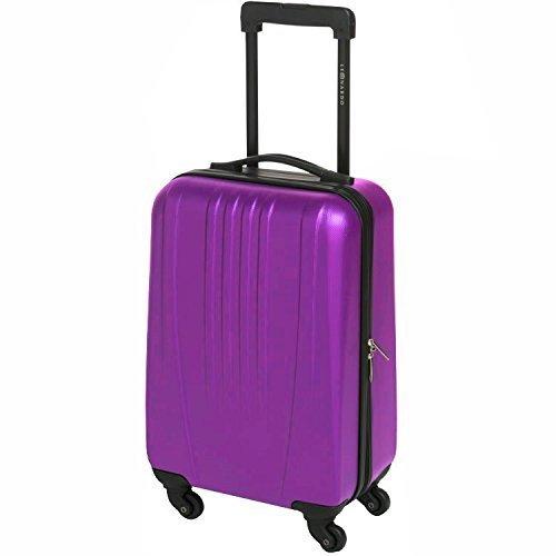 31, 5L valigetta da viaggio a mano Leonardo valigetta Trolley valigetta rigida custodia bagagli board, (lilla), 31,5l