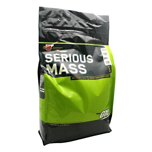 Serious Mass - Strawberry SF - 12 lbs. - Powder