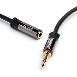 KabelDirekt Pro Series 0,5m Klinken - Verlängerungskabel 3.5mm Stecker auf 3.5mm Buchse