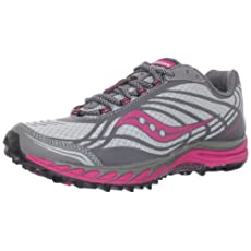 Saucony Women's Progrid Peregrine 2 Trail Running Shoe,Grey/Pink,10.5 M US