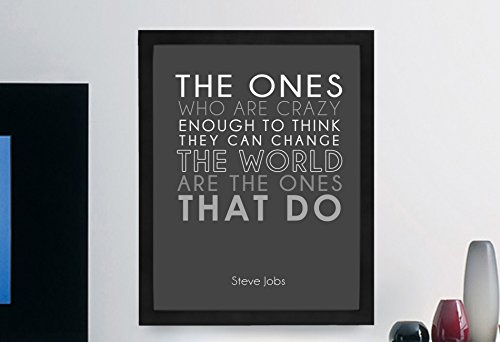 Steve Jobs Inspirational Typography Quote Print