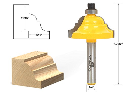 Yonico 13123q Double Roman Ogee Edging Router Bit With