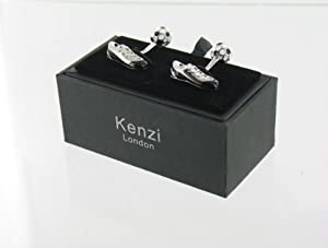 Mens Mans Designer Fashion Novelty Funky Cufflinks - Football & Football Boot - Perfect Gift for Dad, Father, Boyfriend, Husband, Boss