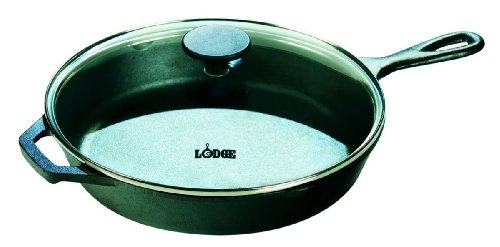 Lodge L10SKG3 Skillet with Glass Lid, 12-inch
