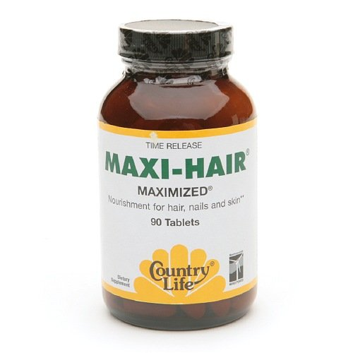 Country Life - Maxi-Hair Maximized, 90 Tab, Pack Of 3