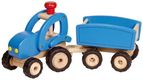 Goki 55925 - Traktor mit Anhänger, blau