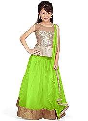 Pakiza Design kids lehenga choli (Green)