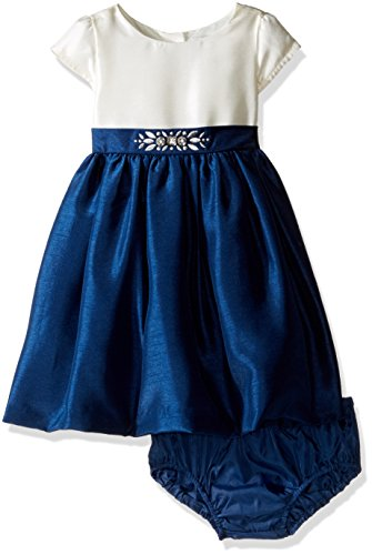 Gymboree Girls' Ivory Top with Navy Skirt Dress, Multi, 6-12