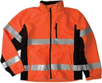 ML Kishigo Polyester Black Series Windbreaker High-Viz Jacket with Adjustable Cuffs, Orange