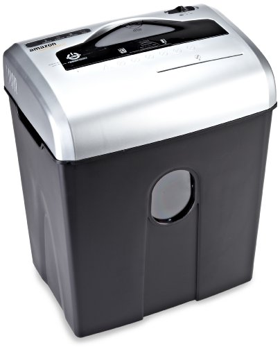 AmazonBasics 12-Sheet Cross-Cut Paper/CD/Credit Card Shredder with Basket