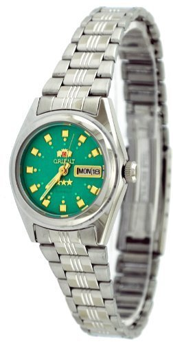 Orient #BNQ1X003N Tri-de las mujeres de la estrella de color verde claro como se muestra en el reloj automático