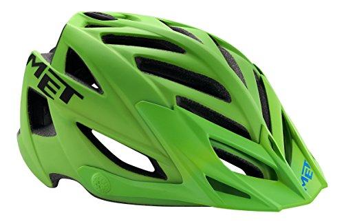 MET 3HELM91UNVN_Green/Black_54-61 cm - Casco da ciclismo unisex, taglia unica, colore: Multicolore Verde/nero