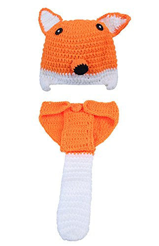 [Bestwoohome Infant Fox Shape Costume Photography Handmade Knit Crochet] (Baby Fox Costumes For Infants)