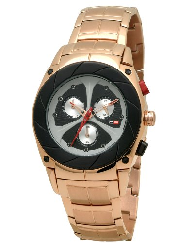 DFactory Men's DFM018RBA Black Label Black Dial Bracelet Chronograph Watch