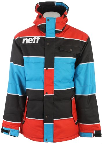 Neff Winston Snowboard Jacket Blue/Red Mens Sz L