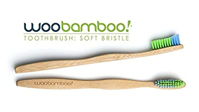 WooBamboo Toothbrush 4 Pack (4 Standard Handle with Soft Bristles)