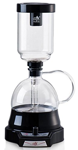 The New Generation of Syphon Coffee Brewer - Diguo Electric Siphon Coffee Maker Vacuum Coffee Maker, No Alcohol and Fire, Easy Use Coffee Syphon Machine, 3 Cups (Black) (Glass Siphon Coffee Maker compare prices)